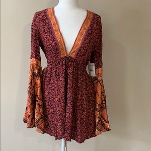NWT Free People Once Upon a Summertime romper - S